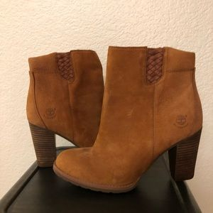 Timberland suede bootie. Never worn, like new.